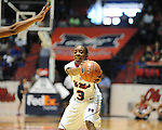 "Ole Miss's Valencia McFarland (3) vs. North Florida at the C.M. ""Tad"" Smith Coliseum in Oxford, Miss. on Friday, November 11, 2011."