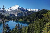 Mount Baker rises above Iceberg Lake, North Cascades, Washington State