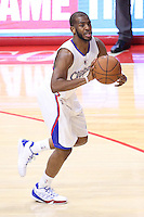 02/22/15 Los Angeles, CA: Los Angeles Los Angeles Clippers guard Chris Paul #3 in action against the Houston Rockets during an NBA game played at Staples Center.