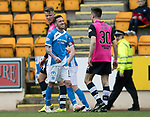 St Johnstone v Dundee&hellip;11.03.17     SPFL    McDiarmid Park<br />Danny Swanson winds up Cammy Kerr<br />Picture by Graeme Hart.<br />Copyright Perthshire Picture Agency<br />Tel: 01738 623350  Mobile: 07990 594431