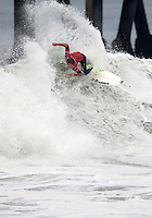 Brett Simpson. 2009 ASP WQS 6 Star US Open of Surfing in Huntington Beach, California on July 25, 2009. ..