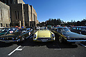 November 27, 2011, Tokyo, Japan - Classic cars are displayed in the front yard of the Meiji Memorial Picture Gallery during the fifth Classic Car Festa 2011 in Tokyo on Sunday, November 27, 2011. They are, from left: a 1975 Toyota Carina Hardtop 1600 GT; a 1955 Chevrolet Corvette, and a 1972 Toota Crown Hardtop 2600 Super Saloon. .Some 43,000 spectators watch about 100 domestic and foreign classic and vintage cars parade the gingko-lined streets of the Meiji Shrines Outer Garden in the annual open-air exhibition and parade sponsored by Toyota Automobile Museum. (Photo by Natsuki Sakai/AFLO) [3615] -mis-.
