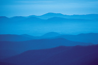 North Carolina. Blue Ridge mountains on Blue Ridge Parkway