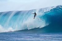 Sunday August 15, 2010. Free surfing at Teahupo'o Tahiti, French Polynesia.  Inconsistent 5-'6' swell. Photo: joliphotos.com