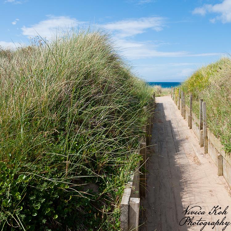 Boardwalk to the beach, Isle of Man.