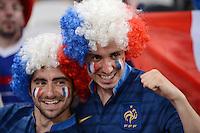 FUSSBALL  EUROPAMEISTERSCHAFT 2012   VIERTELFINALE Spanien - Frankreich      23.06.2012 Fussballfans aus Frankreich