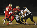 Lafayette High's Jeremy Liggins (1) runs vs. Pontotoc in Oxford, Miss. on Friday, September 23, 2011. Lafayette won 48-7 for the school's 22nd consecutive win.