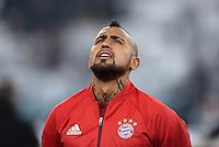 FUSSBALL CHAMPIONS LEAGUE  SAISON 2015/2016 ACHTELFINAL HINSPIEL Juventus Turin - FC Bayern Muenchen             23.02.2016 Arturo Vidal (Bayern Muenchen)