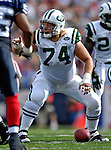 30 September 2007: New York Jets center Nick Mangold in action against the Buffalo Bills at Ralph Wilson Stadium in Orchard Park, NY. The Bills defeated the Jets 17-14 handing the Jets their third loss of the season...Mandatory Photo Credit: Ed Wolfstein Photo