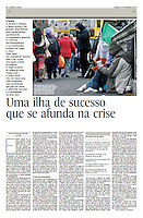 Tearsheet of &quot;Irlanda: Uma ilha de sucesso que se afunda na crise&quot; published in Expresso