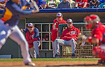 7 March 2013: Washington Nationals Manager Davey Johnson watches play during a Spring Training game against the Houston Astros at Osceola County Stadium in Kissimmee, Florida. The Astros defeated the Nationals 4-2 in Grapefruit League play. Mandatory Credit: Ed Wolfstein Photo *** RAW (NEF) Image File Available ***