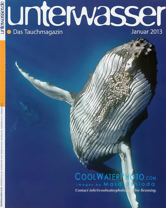 Unterwasser Magazine, January 2013, cover use, Germany