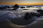 dusk at Cayucos State Beach, California