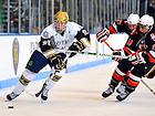 Feb. 11, 2011; Bryan Rust skates with the puck against Bowling Green...Photo by Matt Cashore/University of Notre Dame..