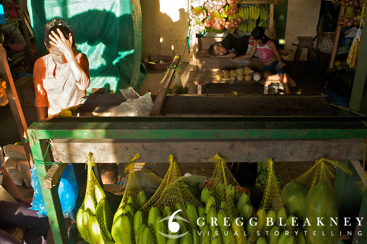 Sunset in the Public Market in Leticia - Amazonas - Colombia