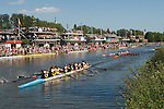 "Oxford University Rowing Clubs Eights Week. Rowing races on the River Isis Oxford. (actually the River Thames). Summer Eights is a ""bumps race"" intercollegiate rowing regatta takes place end of May in Trinity Term. Boats Clubs."