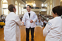 Christa Zehle, M.D., Sargis Ohanyan, Tania Bertsch, M.D. Class of 2017 White Coat Ceremony.