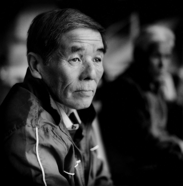 Katsunobe Takuma, 58 years old, worked at the Fukushima Dai Ichi nuclear plant for 2 years.  He had to evacuate to the Higashiyama Park Hotel in Aizu-Wakamatsu from Okuma Machi, which is just a few kilometers from the troubled Fukushima Daiichi nuclear power plant, Japan.