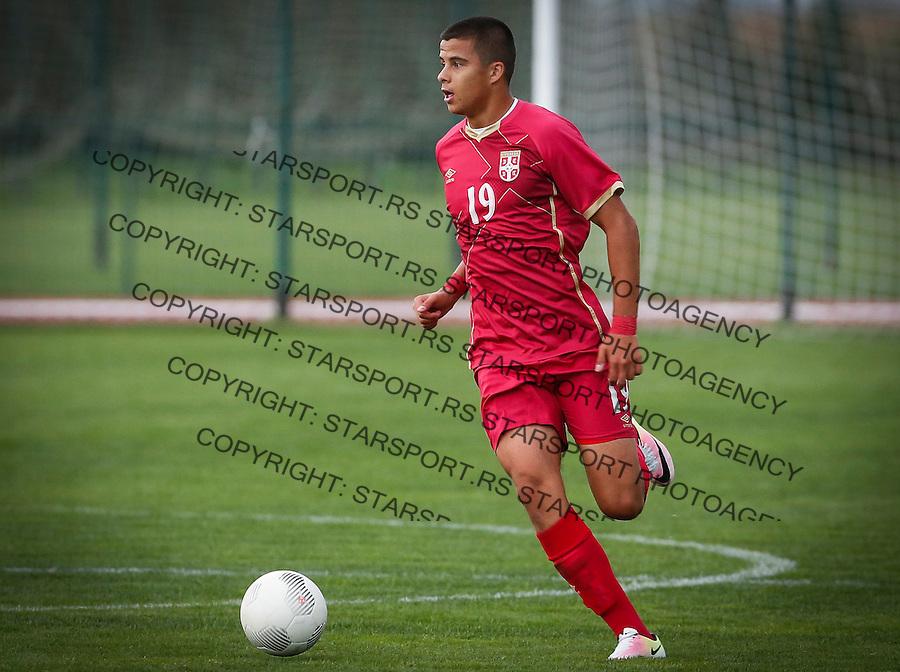 Fudbal Soccer<br /> International Friendly-Prijateljski mec<br /> Srbija U17 v Belorusiaj U17<br /> Slobodan Babic<br /> Stara Pazova, 20.09.2016<br /> foto: Srdjan Stevanovic/Starsportphoto &copy;