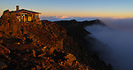 The lookout at sunrise  atop 10,023 foot Haleakala Volcano Crater in Haleakala National Park on the Island of Maui, Hawaii. - Photo by Jim Urquhart/Straylighteffect.com<br />
