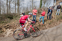 Tony Martin (DEU/Katusha-Alpecin) trying to cross the gap towards the breakaway group up the Baneberg<br /> <br /> 79th Gent-Wevelgem 2017 (1.UWT)<br /> 1day race: Deinze &rsaquo; Wevelgem - BEL (249km)