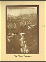 BNPS.co.uk (01202 558833)<br /> Pic: Tooveys/BNPS<br /> <br /> The funicular Peak tramway built in 1888.<br /> <br /> A fascinating set of early images of Hong Kong long before it became the metropolis it is today have surfaced. <br /> <br /> The black and white photographs dating to the early 20th century depict a region unrecognisable to what stands today. <br /> <br /> There are several shots of natives walking down packed low-rise streets while a number of others picture primitive sailing boats. <br /> <br /> The collection was compiled by adventurous British photographer Denis H. Hazell, who took each of the 26 postcard-like photos.