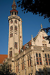 Burghers' Lodge building holding the state archives, Bruges; Belgium; Europe
