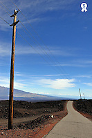 Straight road going down Mauna Loa volcano (Licence this image exclusively with Getty: http://www.gettyimages.com/detail/85071270 )