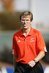 Virginia Tech head coach Oliver Weiss on Wednesday, November 9th, 2005 at SAS Stadium in Cary, North Carolina. The Duke University Blue Devils defeated the Virginia Tech Hokies 2-0 during their Atlantic Coast Conference Tournament Quarterfinal game.