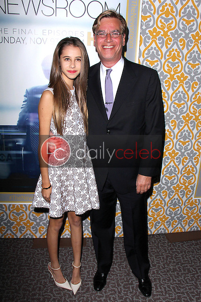 Aaron Sorkin, Roxy Sorkin<br /> at &quot;The Newsroom&quot; Season 3 Premiere, Directors Guild of America, Los Angeles, CA 11-04-14<br /> David Edwards/DailyCeleb.com 818-249-4998