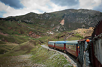 The train's route runs between Huancayo and Huancavelica, two cities in the central Andes of Peru. Along its 128 km line, it connects several small communities that are very difficult to access by any other means.