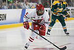 ST CHARLES, MO - MARCH 19:  Sarah Nurse (16) of the Wisconsin Badgers skates against the Clarkson Golden Knights during the Division I Women's Ice Hockey Championship held at The Family Arena on March 19, 2017 in St Charles, Missouri. Clarkson defeated Wisconsin 3-0 to win the national championship.(Photo by Mark Buckner/NCAA Photos via Getty Images)