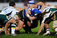 A general view of a scrum. Aviva Premiership match, between Bath Rugby and Northampton Saints on February 10, 2017 at the Recreation Ground in Bath, England. Photo by: Patrick Khachfe / Onside Images