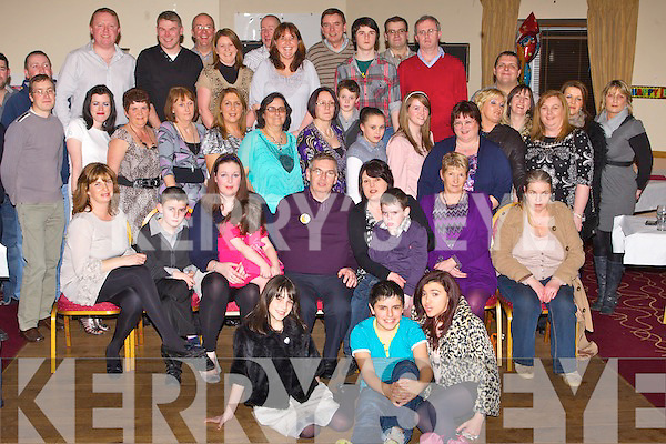 THE BIG 5-OH: Jimmy O'Donnell. Cahill's Park, Tralee (seated centre) got a big surprise when a large group of family and friends gathered to celebrate his 50th birthday at Strand Road clubhouse, Tralee on Saturday.