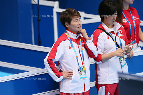 (L-R) Masayo Imura,  Risako Takita (JPN), JULY 30, 2015 - Synchronised Swimming : 16th FINA World Championships Kazan 2015 Duets Free Routine Final at Kazan Arena in Kazan, Russia. (Photo by Yohei Osada/AFLO SPORT)