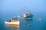 Two Fishing Boats in Lubec Harbor