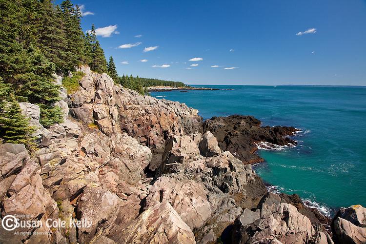 The Bold Coast Trail's craggy cliffs, Cutler Cliffs Reserve, Cutler, ME