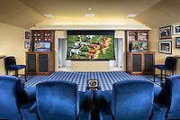 Media Room with Multiple TVs