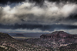 Thunderstorm from overlook at White Rock, New Mexico.