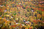 Fall color in the Missoula Valley viewed from above on Mount Sentinel