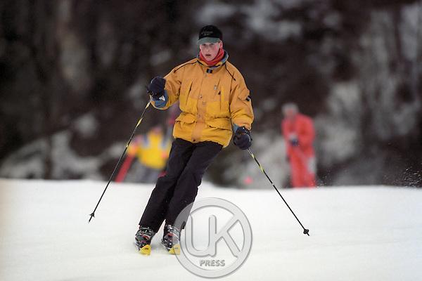 Prince William Skiing in Klosters, Switzerland
