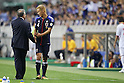 (L to R)  Albert Zaccheroni Head Coach (JPN), Keisuke Honda (JPN), June 8, 2012 - Football / Soccer : .FIFA World Cup Brazil 2014 Asian Qualifier Final Round, Group B match between Japan 3-0 Oman .at Saitama Stadium 2002, Saitama, Japan. (Photo by Yusuke Nakanishi/AFLO SPORT) [1090]..