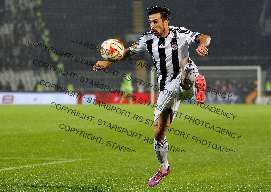 Fudbal Football Soocer<br /> UEFA Europe League <br /> Partizan v Besiktas<br /> Vladimir Volkov<br /> Beograd, 23.09.2014.<br /> foto: Srdjan Stevanovic/Starsportphoto&copy;