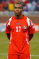 Panama defender Luis Henríquez (17) before the CONCACAF soccer match between Panama and Guadeloupe at Ford Field Detroit, Michigan.