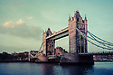London, UK. 07.04.2015. Tower Bridge at Sunset, London, UK. Photograph © Jane Hobson.