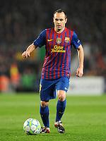 FUSSBALL  CHAMPIONS LEAGUE  VIERTELFINAL RUECKSPIEL   2011/2012      FC Barcelona - AC Mailand           03.04.2012 Andres Iniesta (Barca)