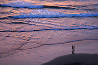 Aerial view Sunset at Kuta Beach, Legian Bali