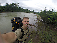 COURTESY PHOTO<br /> There were several creek crossings for Marek during his solo trek of the Ozark Highlands Trail.