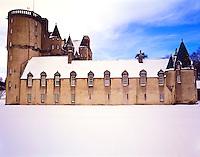 Heavy Winter Snows at Castle Fraser, near Dunecht, Aberdeenshire, Scotland, United Kingdom