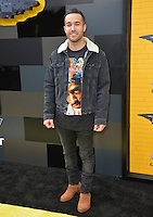 Pete Wentz at the world premiere of &quot;The Lego Batman Movie&quot; at the Regency Village Theatre, Westwood, Los Angeles, USA 4th February  2017<br /> Picture: Paul Smith/Featureflash/SilverHub 0208 004 5359 sales@silverhubmedia.com